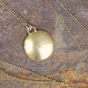 18K over .925 Gold Pendant Endless Necklace